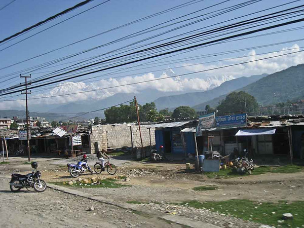Day 14: Departing Pokhara for Kathmandu -- the Himalayas were in plain sight