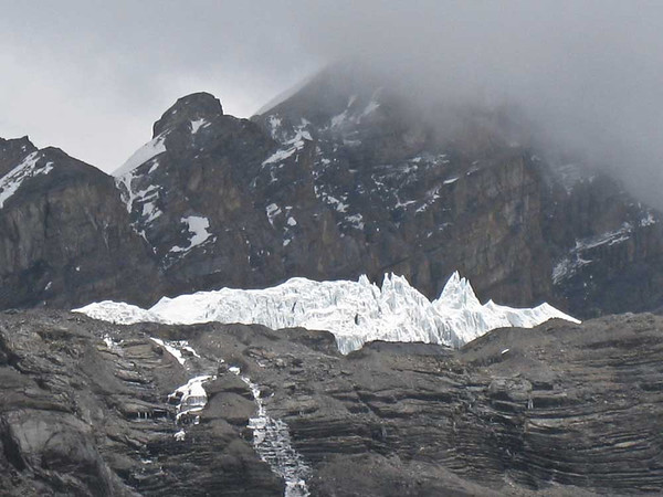 Glacier above High Camp